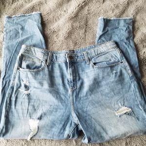 Universal Thread Distressed Raw Hem Jeans